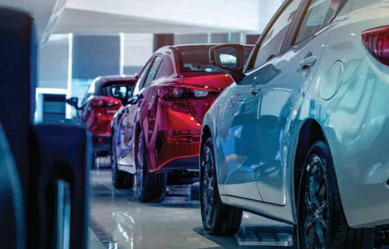 car showroom with red and silver, value for money car