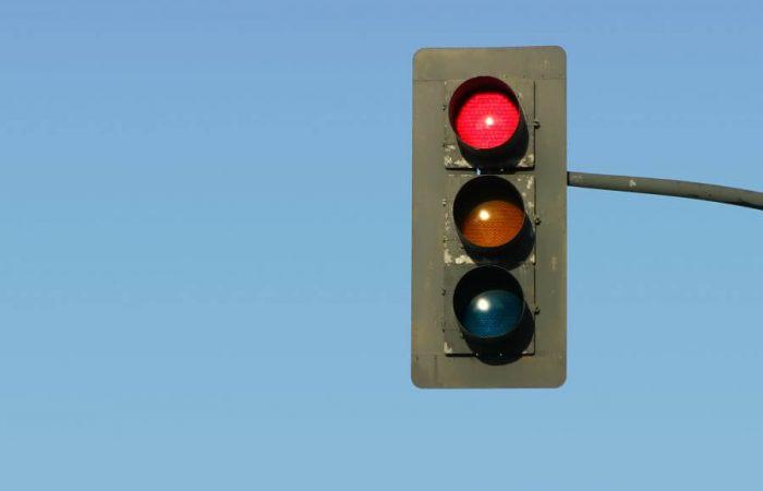 beating red traffic light