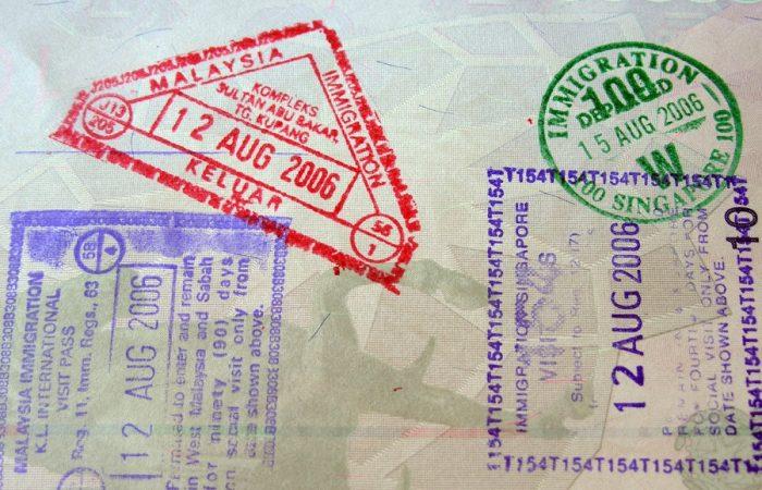 going to johor bahru passport stamp