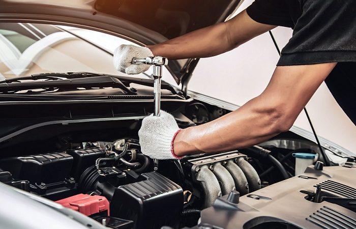 mechanic doing car tuning