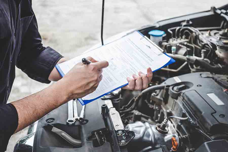 inspection of car engine systems